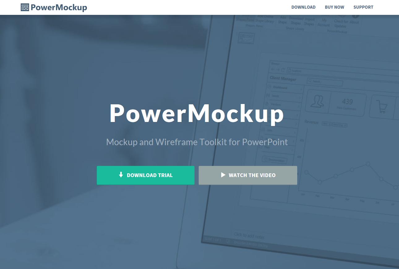 기획서 작성 시 유용한 툴, 파워목업(powermockup)입니다.